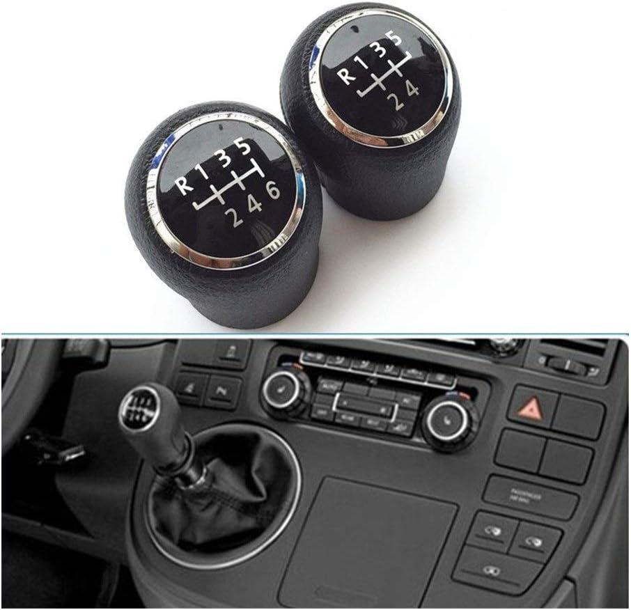 Nologo Parfait 5//6 Speed Car Styling Accessoires MT POMMEAU Levier B/âton Poign/ée T/ête pour Volkswagen VW T5 Transport T5.1 GP 2003-2011 Couleur : 5 Vitesse