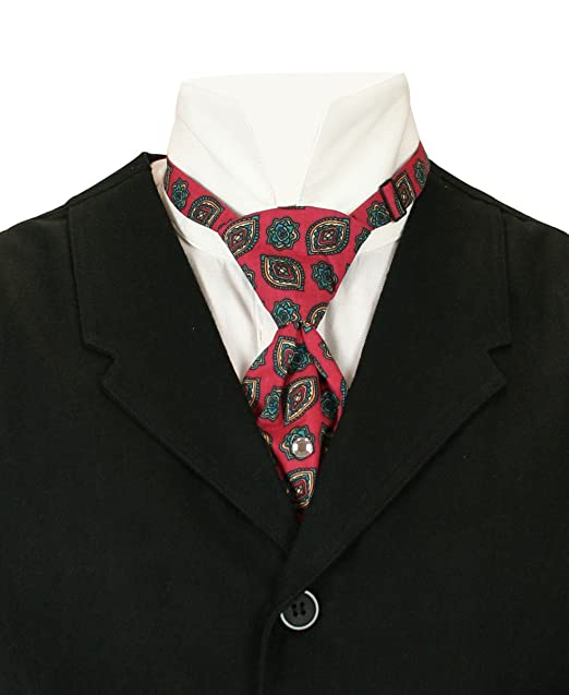 Edwardian Men's Neckties Historical Emporium Mens Cotton Teck Tie $23.95 AT vintagedancer.com