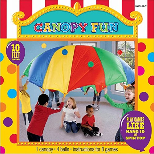 Amscan Carnival Fair Fun Canopy Fun Game Party Activity, Fabric, 10', Pack of 5