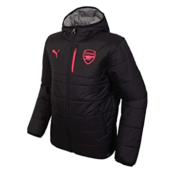 58d296c65b8 Puma 2017-2018 Arsenal Reversible Jacket (Black-Grey)  Amazon.co.uk ...