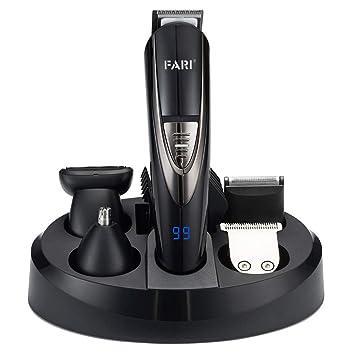 Juego de recortador de barba eléctrico multifuncional FARI, kit de ...