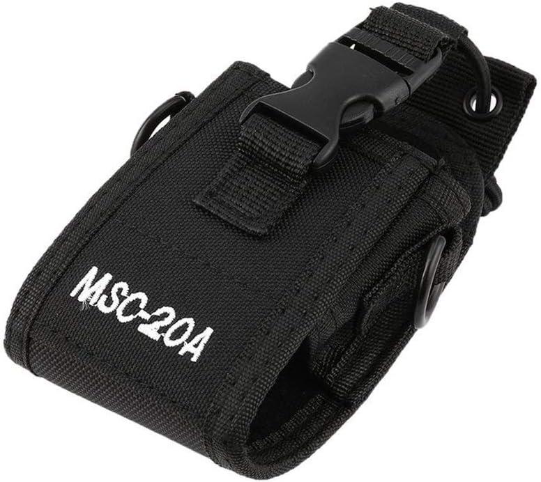 Noir Vige 20a Nylon Radio Msc-20a Etui Porte-Nylon Sangle R/églable Portable Interphone Gaine Walkie-Talkie Accessoires