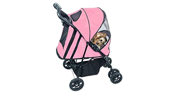 Amazon.com: CARRIOLA para MASCOTA HAPPY TRAILS de PET GEAR color Pink Ice: Health & Personal Care