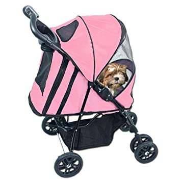 CARRIOLA para MASCOTA HAPPY TRAILS de PET GEAR color Pink Ice