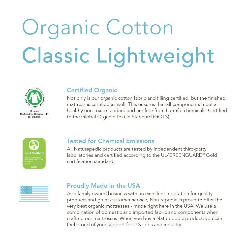amazon com naturepedic no compromise organic cotton classic