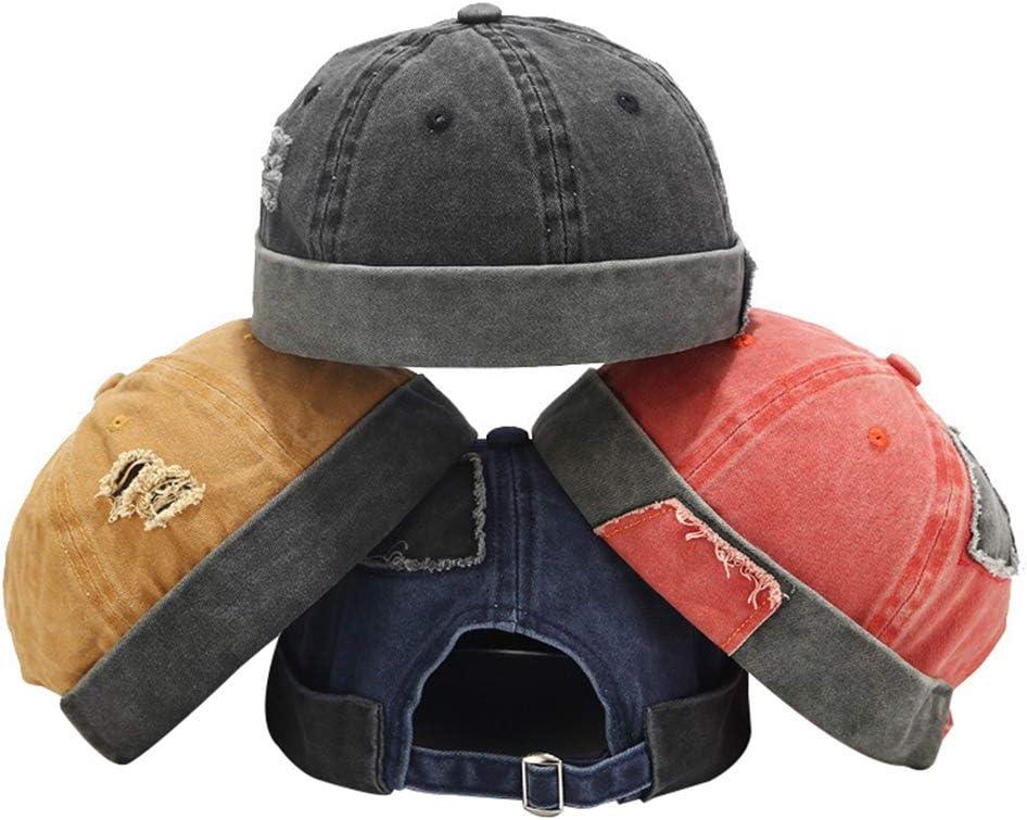 Rubyyouhe8 Hat Set,Head Decor Unisex Fashion Outdoor Cotton Retro Casual Brimless Skullcap Beanies Hat Cap
