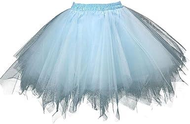 LUCKYCAT Mujer Faldas Tul Enaguas Tutu Enagua Underskirt para ...