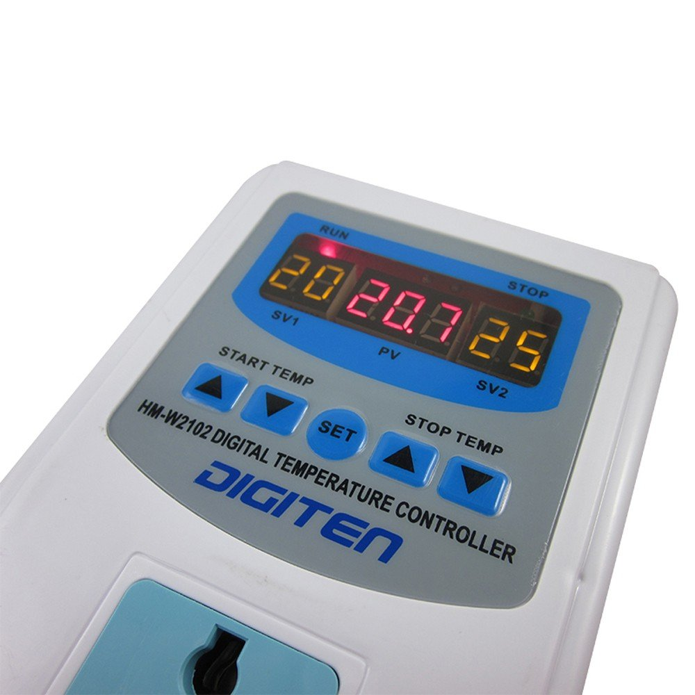 DIGITEN Digital Pre-wired Temperature Controller Outlet Thermostat ...