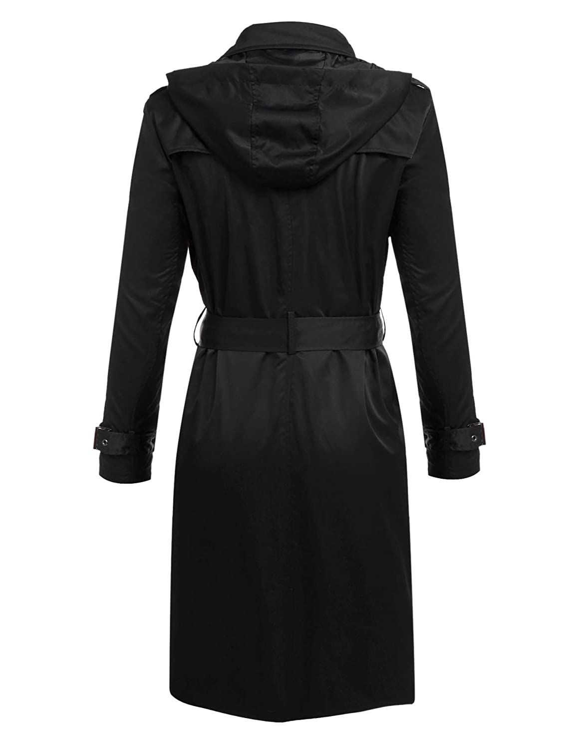 Amazon.com: IN\'VOLAND Women\'s Plus Size Trench Coat Double Breasted ...