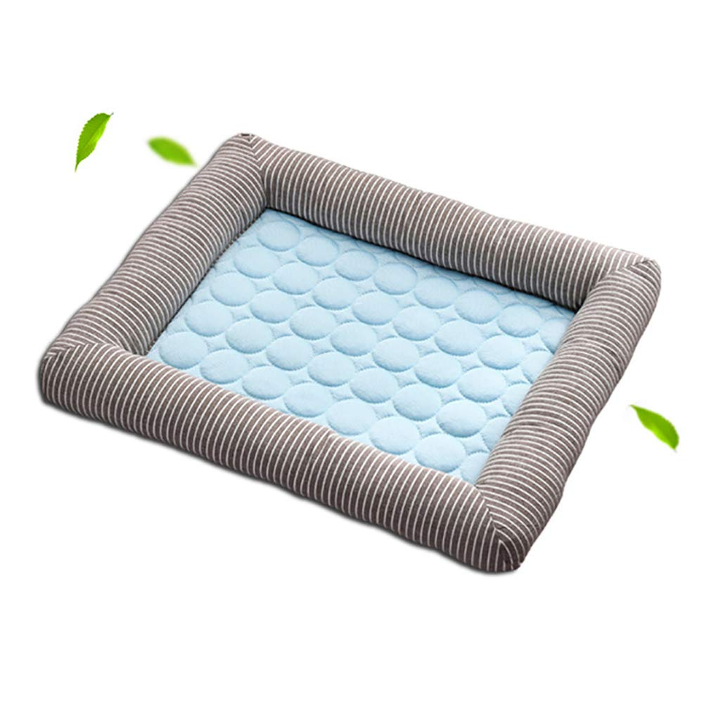 bluee XLargeDog Cooling Mattress,Dog Cooling Pad Ice Silk Material Heat Absorption and Heat Dissipation Function Can be Used for Dog Crates, Kennels and Beds,bluee,XL