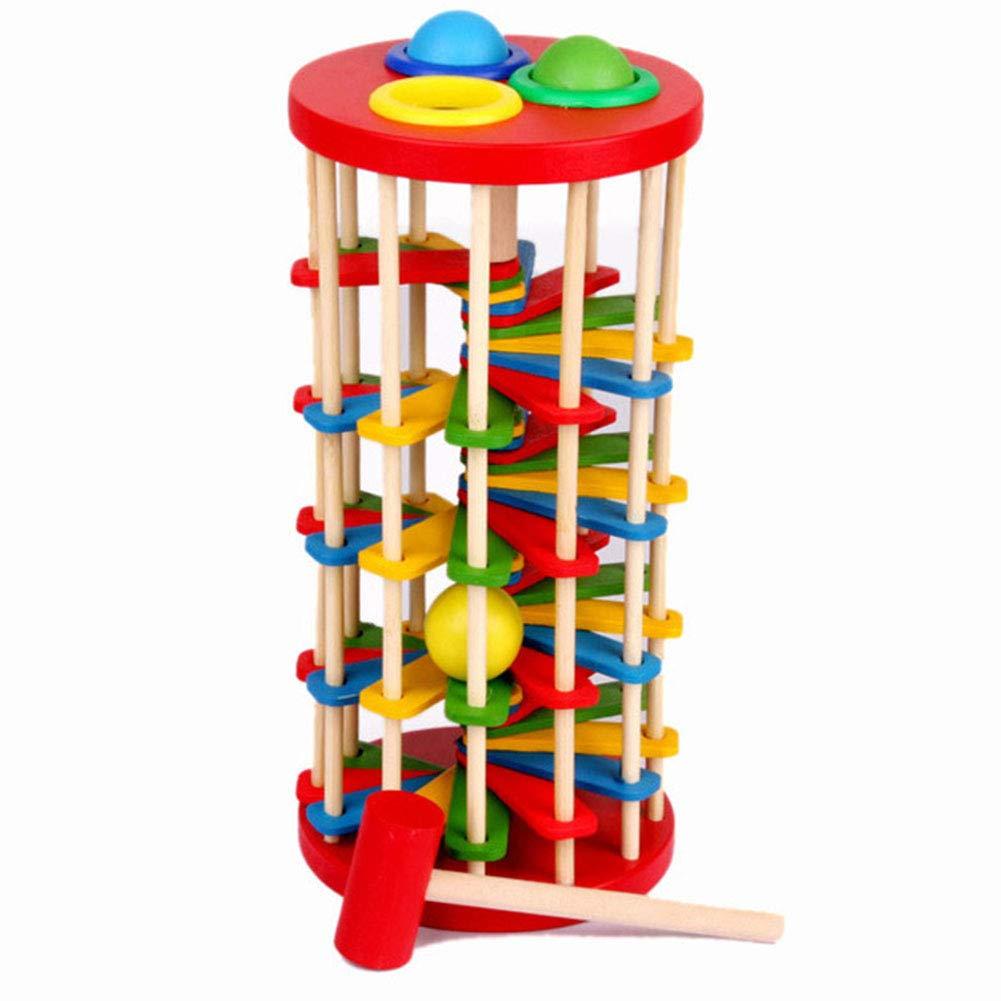 Abboard Baby Toys Pounding and Roll Torre de Madera con mazo de ...