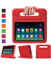 """Surom Case for All-New A m a z o n K i n d l e F i r e HD 8 2018/2017, Kids Shockproof Convertible Handle Light Weight Protective Stand Cover for F i r e HD 8"""" Display Tablet 2018/2017, Red"""