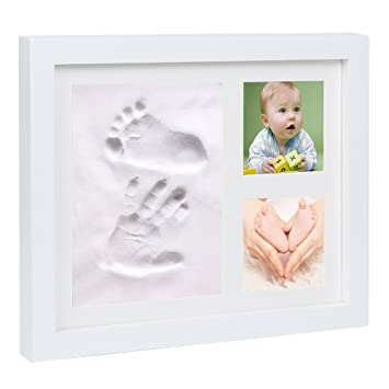 Amazon.com : Baby Hand and Foot Prints Picture Frame Kit with Clay ...