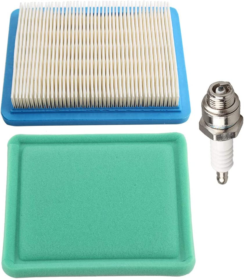 Butom 491588S 491588 Air Filter + 493537S 493537 Pre-Cleaner for Engines w/Spark Plug
