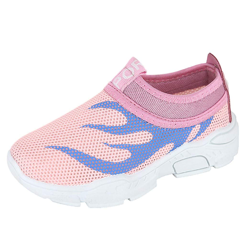 Tantisy ♣↭♣ Toddler Kids Water Shoes Breathable Mesh Running Sneakers Sandals for Boys Girls Running Pool Beach Pink
