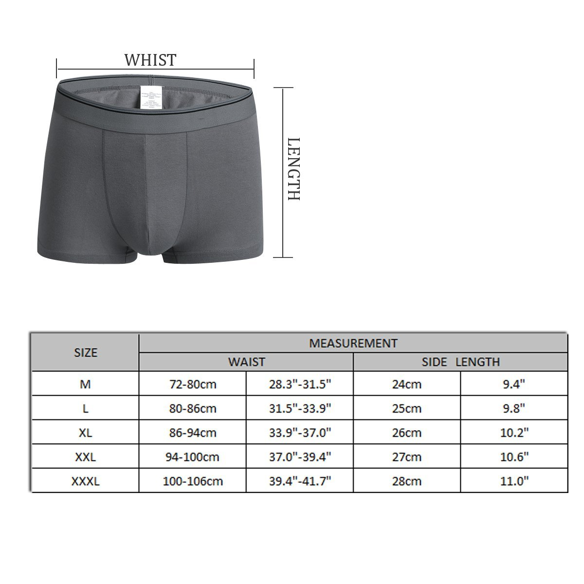 Pmftryuer Mens Lovely Cow Underwear Boxer Briefs Underpants