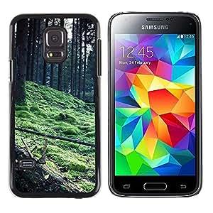 TopCaseStore / la caja del caucho duro de la cubierta de protección de la piel - Plant Nature Forrest Flower 56 - Samsung Galaxy S5 Mini, SM-G800, NOT S5 REGULAR!