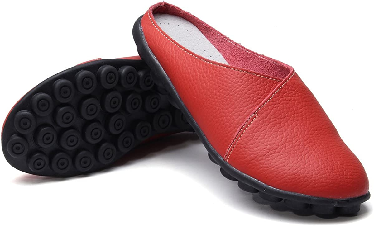 Leather Mocassins Casual Slip