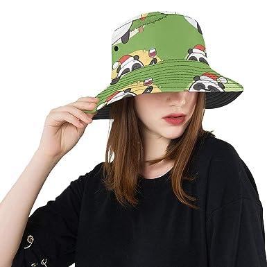 7c6c7af2068db Cute Chinese Panda Souvenir Gift New Summer Unisex Cotton Fashion Fishing  Sun Bucket Hats for Kid