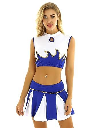 ranrann Disfraz de Animadora para Chica Traje de Cheerleading ...
