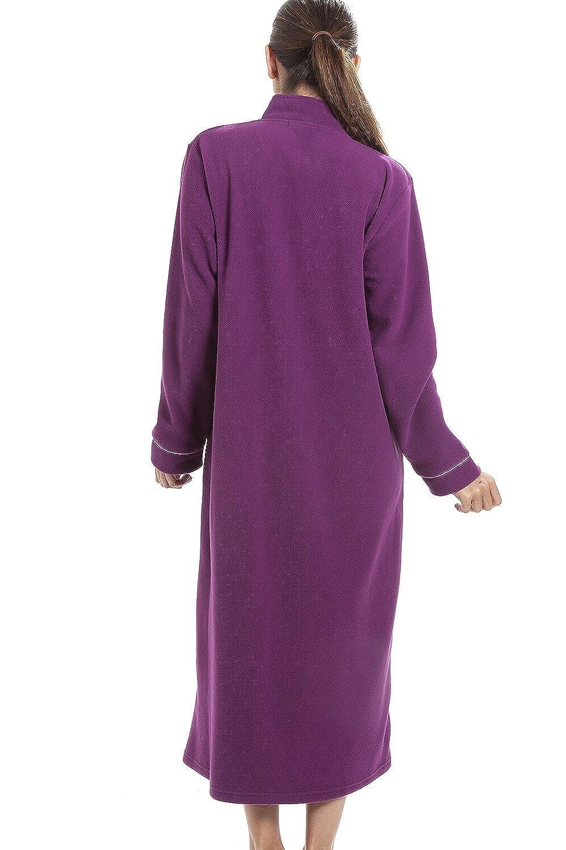 Fermeture /Éclair /à lavant Polaire Douce//Chaude Violet Robe de Chambre