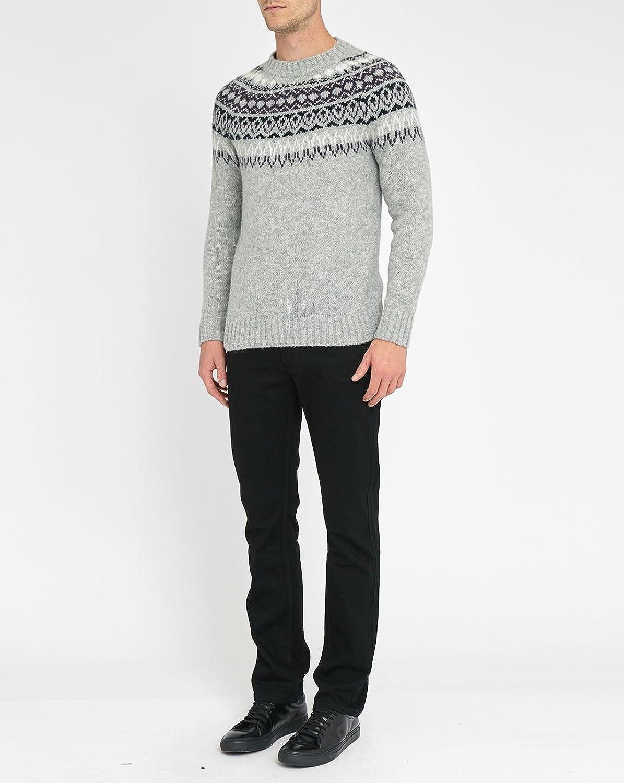 M.STUDIO - Crew-neck Sweaters - Men - Augustin Wool Blend Jacquard Sweater for men