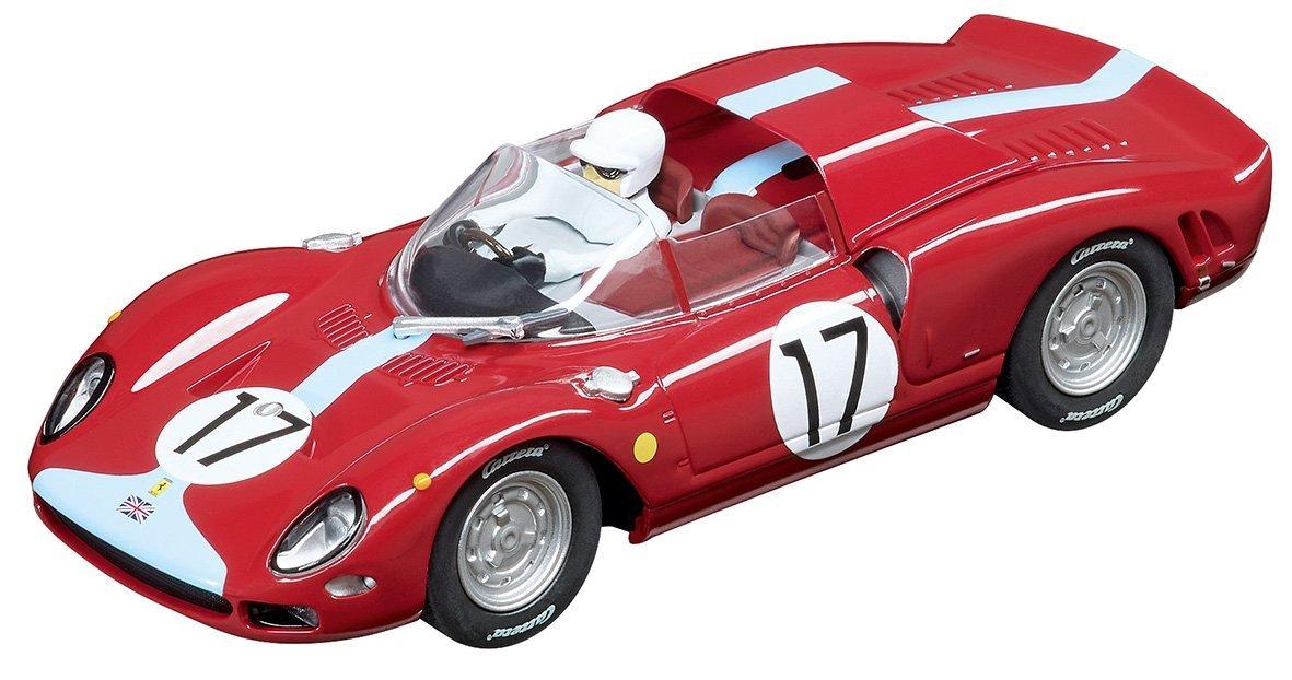 Carrera USA 20030834 Digital 132 Ferrari 365 P2 Maranello Concessionaires no. 17'' Slot Car Racing Vehicle, Red
