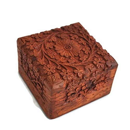 Christmas Gifts Sale Beautifully Hand Carved Wooden Keepsake Box Jewellery Chest Organiser Unique Gift Ideas For