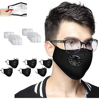 LILIfoodshop 6 faciales Proteger Reutilizables con 13 Filtros, Lavable de Algodón Suave y semicara, Reutilizable, Lavable el Filtro de Carbono es reemplazable