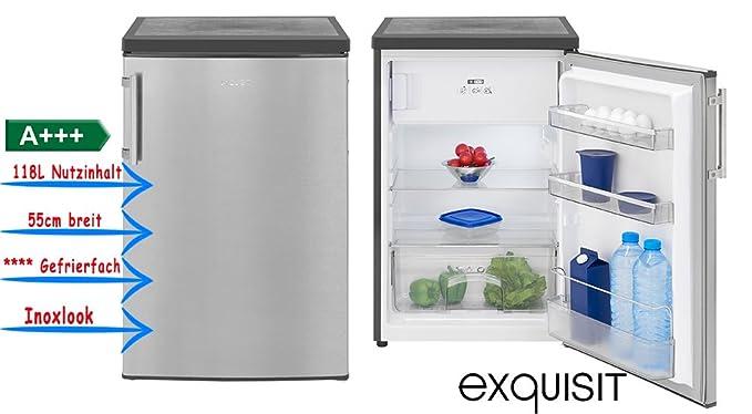 Exquisit KS 16 - 4 A + + + INOX Look Frigorífico con congelador a ...