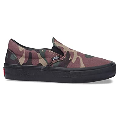 a28b7c3657 Image Unavailable. Image not available for. Color  Vans  quot Camo Slip-On Pro  Sneakers (Camo Black) ...