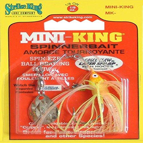 Strike King Mini-King Spinnerbait - Single Colorado Diamond Blade (Sun Perch Head Sun Perch Skirt, 0.125-Ounce)