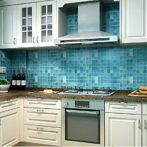 45x500cm Cocina impermeable del mosaico etiqueta de la pared del papel de aluminio auto-adhesivo del papel pintado de aceite...