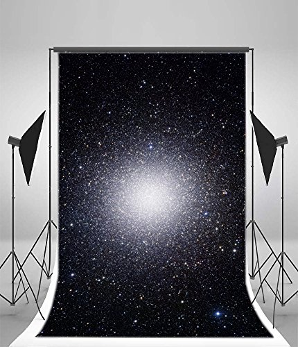 Leyiyi 6x9ft Abstract Galaxy Backdrop Starry Night Sky Outer Space Twinkle Stars Vista Universe Banner Photography Background Kids Birthday Merry Christmas Photo Portrait Vinyl Studio Vinyl Prop ()