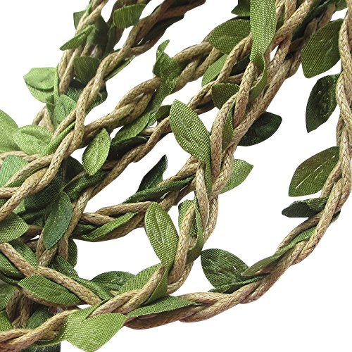 Chenkou Craft 10M Artificial Vine Fake Foliage Leaf Plant Garland Rustic Wedding Home Decor]()