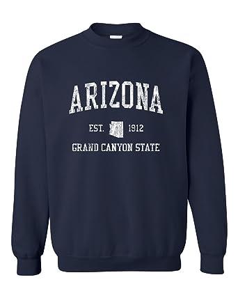 Arizona AZ Sweatshirt Vintage Sports Gift Ideas State Design - Navy ...