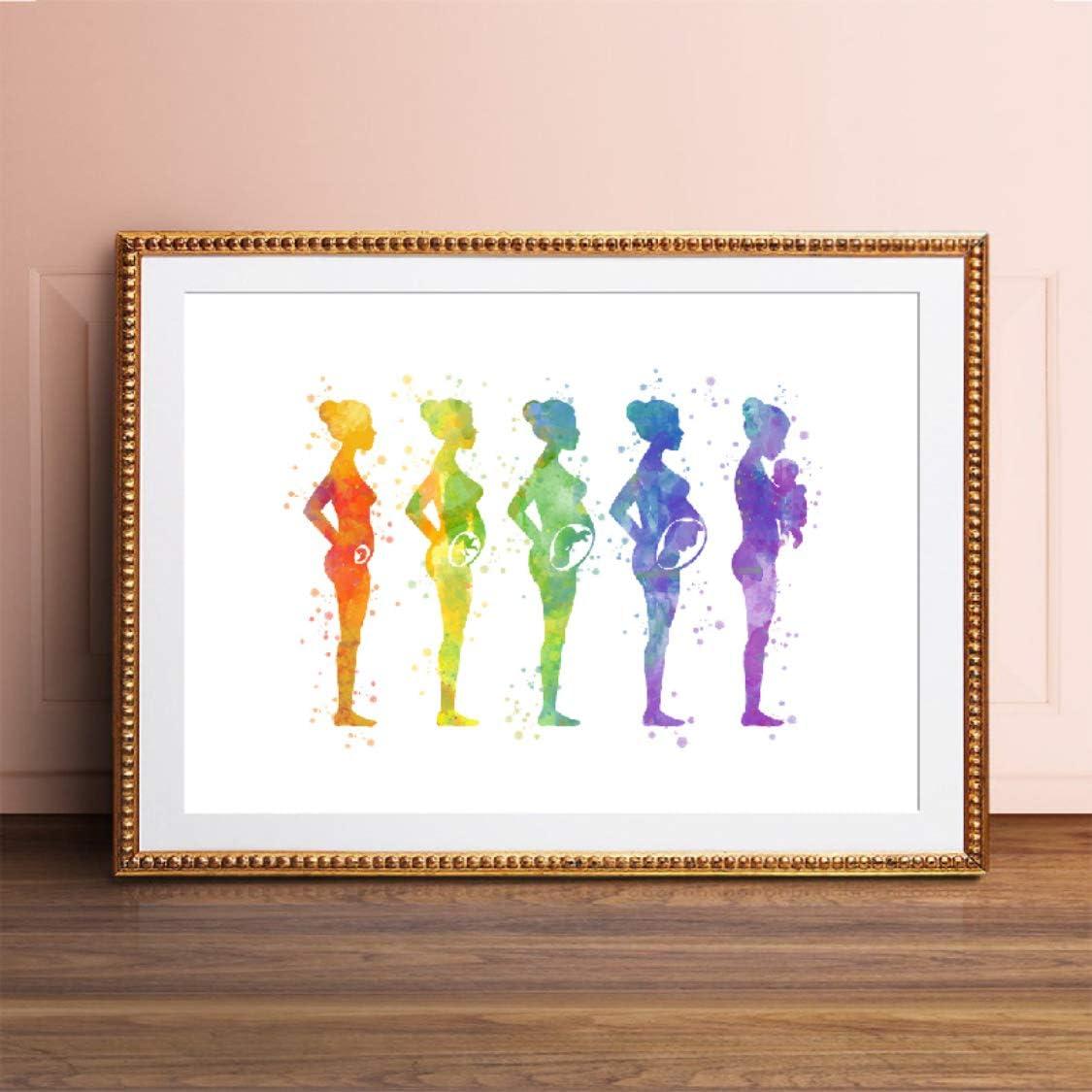 Danjiao Embarazo Feto Desarrollo Arte Abstracto Carteles Imprimir Embrión Biología Arte Médico Acuarela Lienzo Pintura Obstetra Regalos Sala De Estar Decor 60x90cm