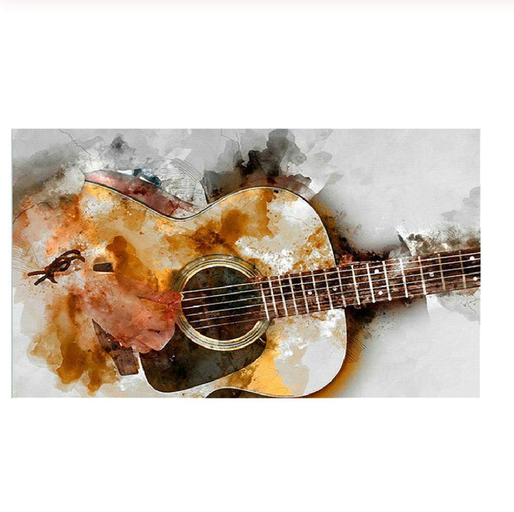 Adult Puzzle Classic Jigsaw Puzzle 1000 Pieces Wooden Puzzle DIY Rendered Guitar Modern Home Decor Unique Gift Intellectual Game 75x50cm by WOZUIBAN