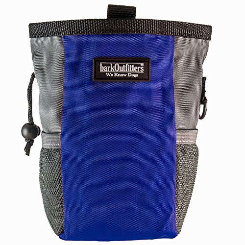 Large Dog Treat Pouch - Training Bag Can Easily Carries Snacks and Toys - Professional Quality Pouch - by barkOutfitters (Blue)