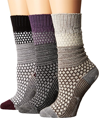 Smartwool Women's Popcorn Cable 3-Pack Multicolor Socks MD (Women's Shoe 7-9.5)