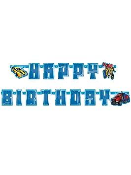 Banderola de letras con felicitación de cumpleaños en inglés ...