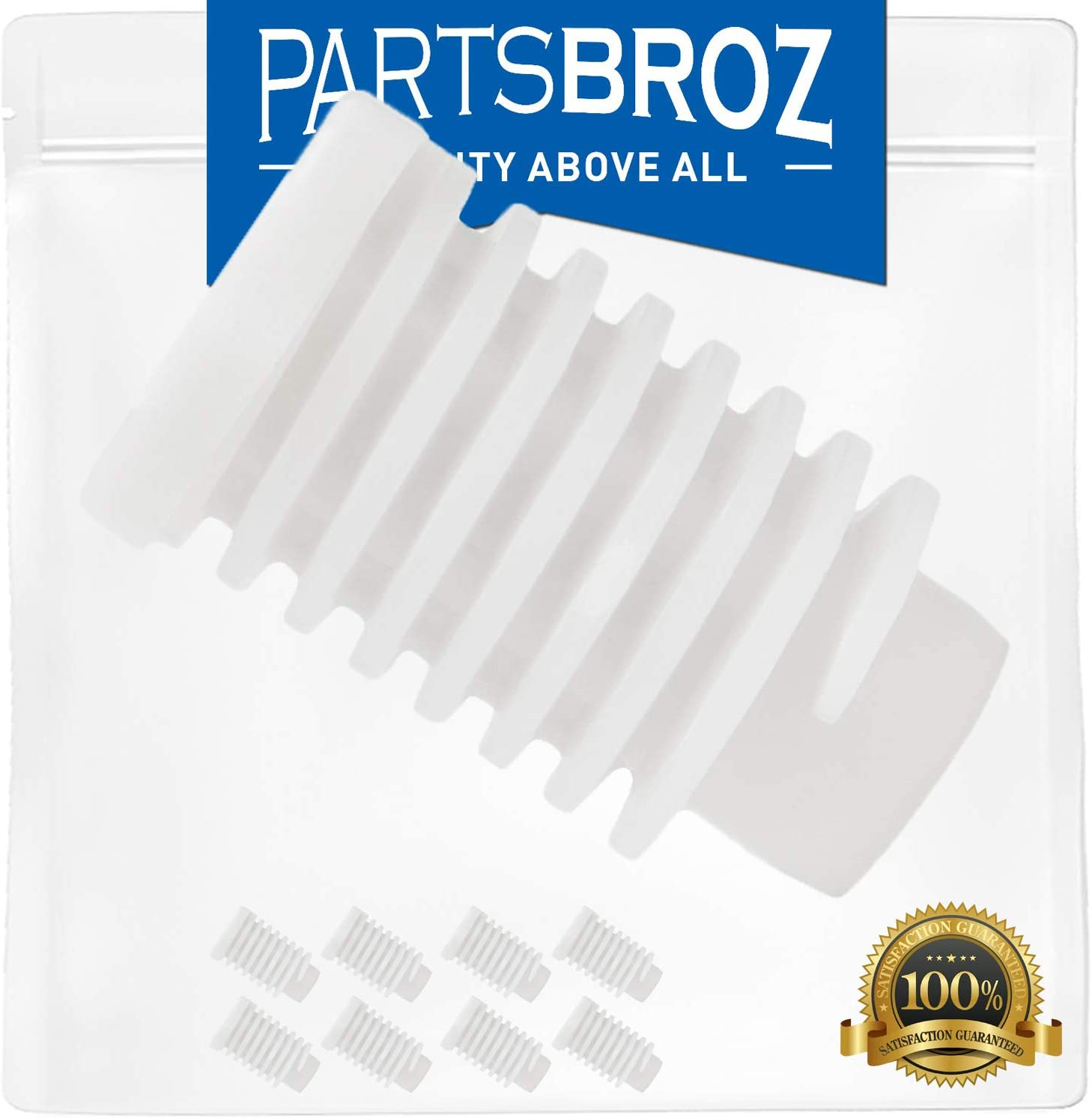 49621 Leveling Foot (8-Pack) by PartsBroz - Compatible with Whirlpool Dryers - Replaces 279810, 1373044, 2012, 26000688222, 3392100, 3392100D, 40021, 4319350, 49591