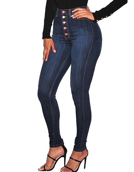 befe5b62fb6 Burvogue Women s High Waist Stretch Butt Lifting Jeans  Amazon.co.uk   Clothing