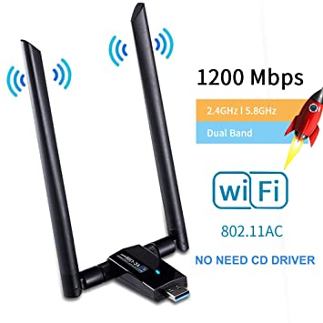 IULONEE USB 3.0 Adaptador WiFi 1200Mbps WiFi inalámbrico ...