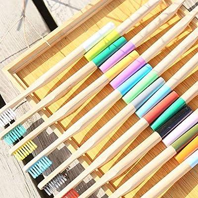 Disponible en una variedad de colores, cepillo de dientes de bambú ...