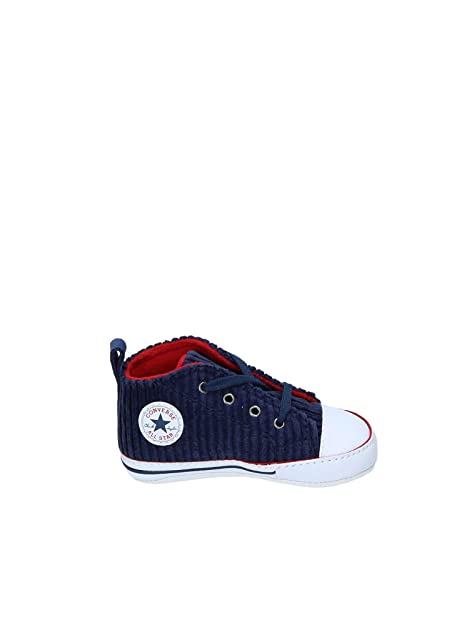d0222a119f Converse Chuck Taylor Ctas First Star Hi, Pantofole Bimbo, Multicolore  (Navy/White