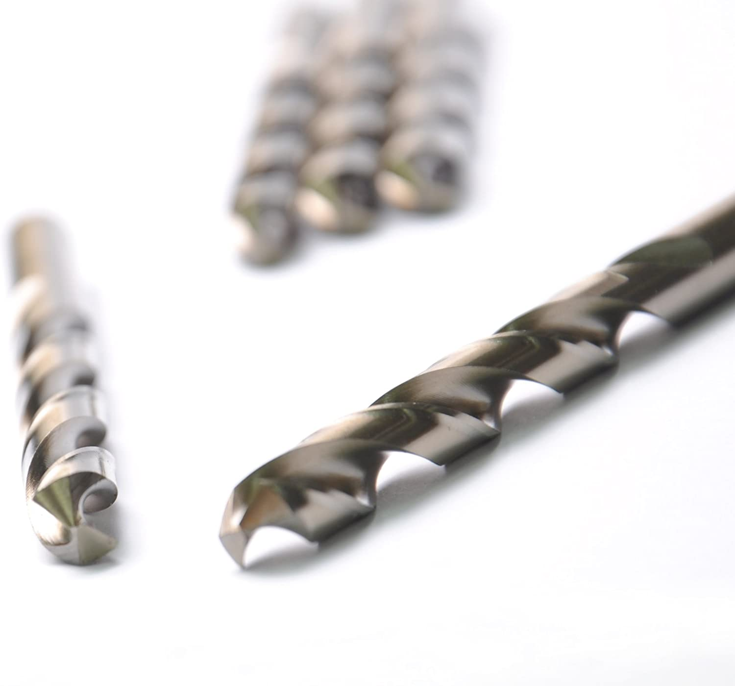 Jobber Length HSS COBALT Drill Bits 10 Pcs DRILLFORCE Aluminum Copper Straight Shank x 3-1//2 in Metal Drill,Ideal For Drilling On Mild Steel Zinc Alloy Etc. 3//16 in