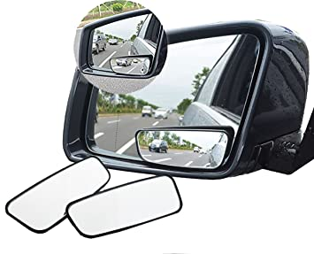 Car Rear View Mirror HD Adjustable 360° Rotating Wide Angle Convex Blind Spot AM
