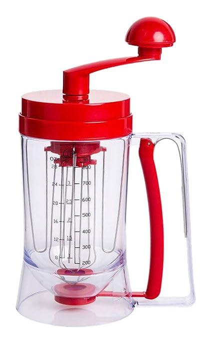 biwinky Masa Dosificador Masa dispensador manual batidora con kunststpff Mango Rojo 21.5 * 9.8 * 18.5