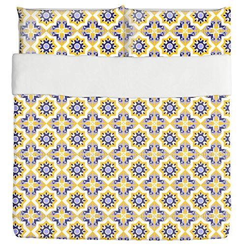 Moorish Splendor Duvet Bed Set 3 Piece Set Duvet Cover - 2 Pillow Shams - Luxury Microfiber, Soft, Breathable by uneekee